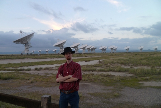 At the Very Large Array (VLA) in New Mexico