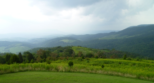 A daytime scenic view of the mountains of Giles County, Virginia near my favorite observing site