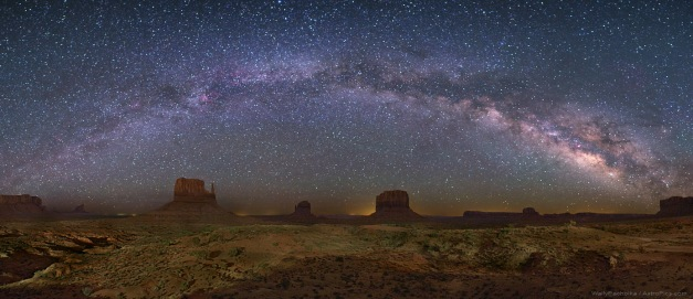 Our galaxy, the Milky Way, as seen from Monument Valley