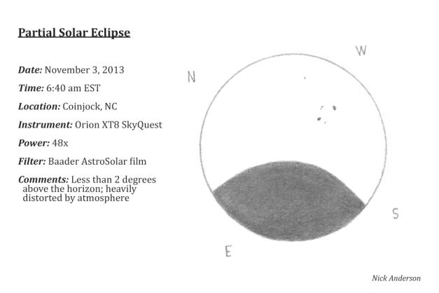 Partial solar eclipse (11/2013)