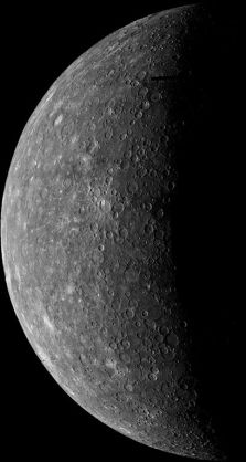 Mercury taken by Mariner 10 in 1974