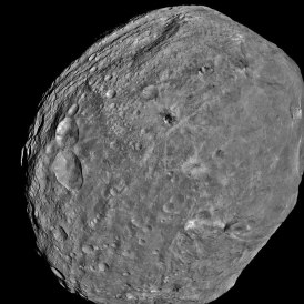 4 Vesta taken by the Dawn spacecraft in 2011