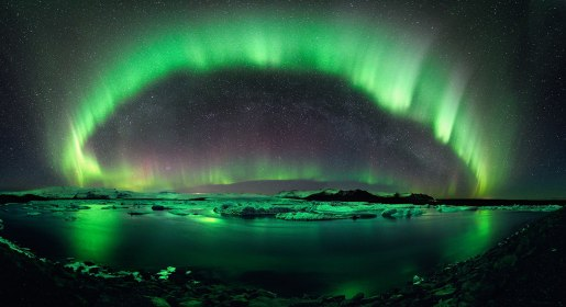 A brilliant display of the aurora borealis from Iceland