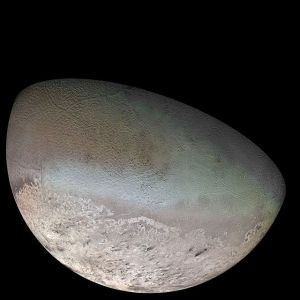 The strange surface of Triton, seen up-close by Voyager 2