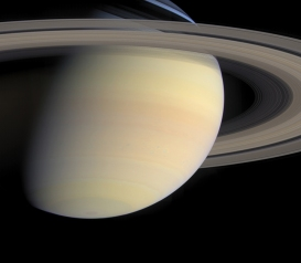 Saturn, imaged by the Cassini spacecraft in 2004